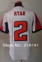 Free/Fast Shipping,Men's Sewn On #2 Matt Ryan White Football Elite Jerseys,Size 40,44,48,52,56.Accept Drop Shipping.