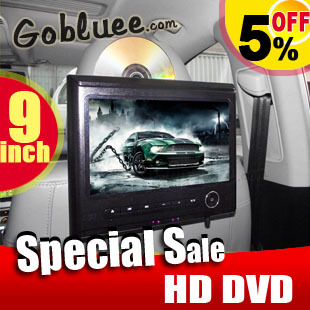 Free shipping & 9 inch HD screen tablet Car DVD player,video/music play,FM,IR,SD,USB+ Car Mount Bracket Headrest DVD Player