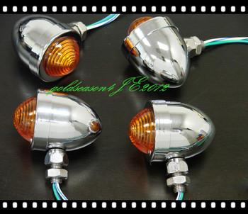 4 x CHROME BULLET Turn Signal   for Kawasaki VN Suzuki Honda Shadow Yamaha Cruiser harley