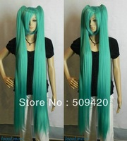 Free Shipping>>>VOCALOID Hatsune Miku Onion Green Extra Long Straight Split Cosplay Wig