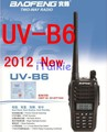 Free shipping 2013 New arrival Baofeng dualband UV-B6 Two way radio 136-174/400-470mHZ   UVB6 wholesale BF-B6