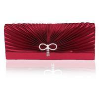 women's diamond-studded evening handbag burgundy partybag