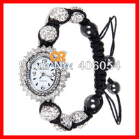 Top quality diamond Shamballa vintage wristwatch beaded cool bracelets women watches lover ally analog fashion brand watch