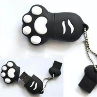50pcs/lot Freeshipping Cute 32GB Black Bear's Paws USB2.0 Flash Memory Stick Pen Drive