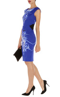 Free shipping 2013 New Signature print dress pencil lady dress lady summer dress evening prom dress DP193