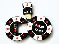 Freeshipping 50pcs/lot 16GB Poker Stars USB2.0 Flash Memory Stick Pen Drive