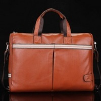 free shipping men designer Genuine leather Briefcase and Laptop bag with shoulder strap messenger bags
