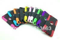 Newest Net Mesh Hard Plastic + Silicone Combo Skin Cover Case for ipod touch 5 5th 10pcs/lot,free shipping