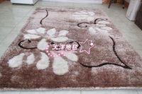 Elegant fashion silk three-dimensional pattern carpet living room coffee table carpet i