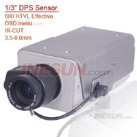 1/3 DPS Sensor 690TVL Effective OSD Menu IR-CUT 8x Digital Zoom box Camera with 3.5-8mm lens Support IR-CUT