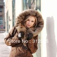 Womens Coat Warm New Style Long Winter Down Jacket Black Brown S M L XL