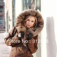Womens Coat Warm New Style Long Winter Down Jacket Black Brown S M L XL
