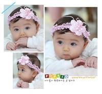 Free shipping,10pcs/lot cute baby flower headbands infant Lace hair band/baby cotton head scarf / baby headwear / headdress
