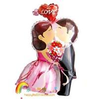 43 inch Aluminum foil balloon ,wedding decorate balloons ,Tokens of love kiss