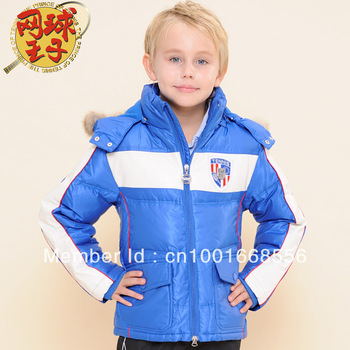 Winter children's clothing large male child down coat short design down coat