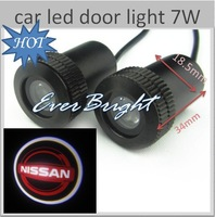 FREE SHIPPING//20 X car led door light 7W Led  Logo Light for nissan Car decorative lighting