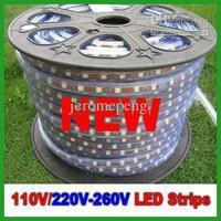 New Products 1M SMD3528 60lights 220V 110V LED Strips LED Flashing Lights with a plug IP67