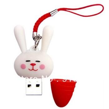Cartoon Silicon Rabbit 8 GB USB Flash Drive