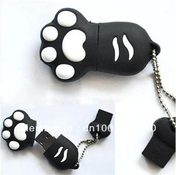 Cute 4.8.16.32 GB Black Bear 's Paws USB2.0 Flash Memory Stick Pen Drive Black
