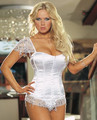 Summer thin gauze short-sleeve paillette lingerie wedding dress slimming clothes beauty care royal shaper bust black corset