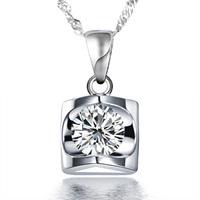 Pendant necklace women's pendant necklace fashion heart pendant necklace 925 pure silver