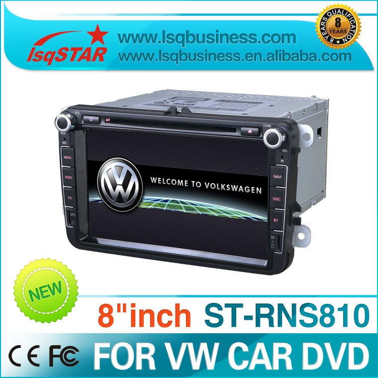 8 inch car dvd player with GPS navigation latest Igo o for Volkswagen and SKODA VW ANS810(China (Mainland))
