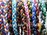 Hot selling 100pcs/lot 3 ropes tornade 3 Ropes Tornado Germanium Titanium Necklace x45 Athletes necklace 45cm/50cm/55cm
