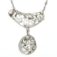 women's pure silver necklace 925 silver