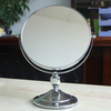 "Desktop 8"" makeup mirror euro standard cosmetic mirror double sided stailess steel bracket  magnifier"