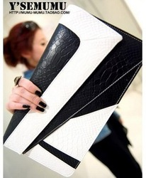 2012 female all-match color block angering serpentine pattern clutch shoulder bag day clutch bb0225(China (Mainland))