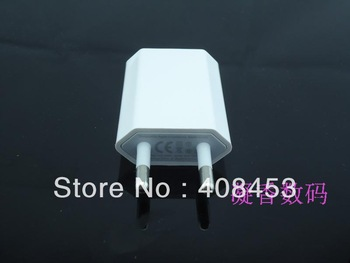 10pcs/lot Free shipping EU USB Wall travel Charger AC Adapter for iPod iPhone 4G