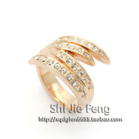 Free shipping ITALINA accessories ol austria crystal full rhinestone index finger ring finger ring female