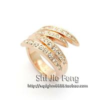 Free shipping ITALINA accessories ol austria crystal full rhinestone index finger ring finger ring female