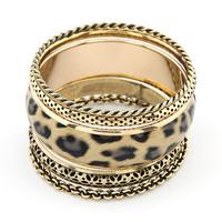 Fashion new arrival fashion vintage leopard print multi-layer bracelet small accessories