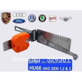 HKpost free shipping HU66 VAG Auto smart 2 In 1 Locksmith Auto Pick Decoder