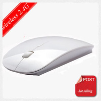 Wholesale 2013 Newest Four Different Colors Hot Optical Wireless Mouse  Slim Mouse For PC Laptop Free Shipping By DHL FED UPS
