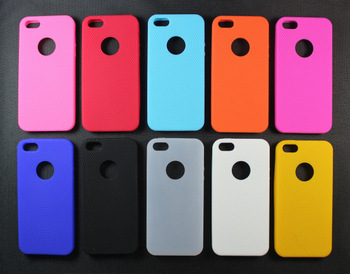 1000pcs/lot silicone concentric circles hand fingerprint case for iPhone5