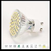 Big discout !GU10 Warm White/ white 60 SMD LED Spot Light Bulb Lamp 220-240V free shipping