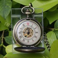 Lanyard super luxury mechanical watch bronze vintage pocket watch chain mechanical watch male women's pocket watch fashion table