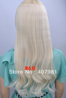"synthetic clip in hair  One Piece Synthetic Hair synthetic hair extensions 100g/pc 20"" (50cm)Colors: #60 Platinum Blonde"
