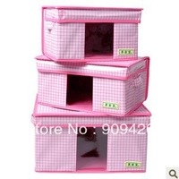 Easy home appropriate transparency window waterproof coated covered receive box sorting box store content box SN0005