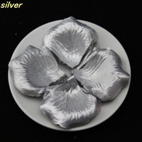Wholesale  new 1000pcs Silver 5cm silk rose petals for wedding party //Family  Decoration FREE SHIPING