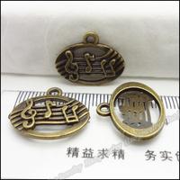 140pcs Vintage Charms Note Pendant Antique bronze Zinc Alloy Fit Bracelet Necklace DIY Metal Jewelry Findings