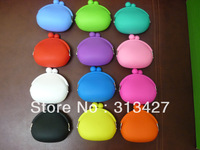 Free shipping Wholesales Pochi Silicone Wallet Coin purse 12 colors selection Fast shipping