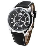 Free Shipping!!! EYKI Fashion Style Rotary Calendar Strap Quartz Watch For Men