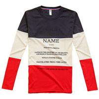 Men's Stylish Casual O-Neck long sleeve Slim T-shirt purple Size S/M/L/XL FREE SHOPPING