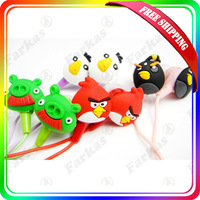 FreeShipping, 3.5mm Newly cute Cartoon Earphone Headphone in-ear earphone 20pcs/lot