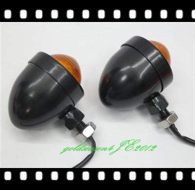Black Amber TURN SIGNAL Bullet LIGHT for Honda VT VTX 750 1100 1300 1800 Shadow(China (Mainland))