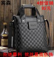 Man  messenger bag commercial  lather-bag crocodile pattern handbag