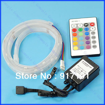 Free Shipping 1M 5050 SMD RGB 30 LED Flash Strip + Remote Controller
